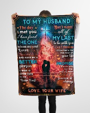 """BL10086 - To My Husband Whom My Soul Loves Small Fleece Blanket - 30"""" x 40"""" aos-coral-fleece-blanket-30x40-lifestyle-front-14"""