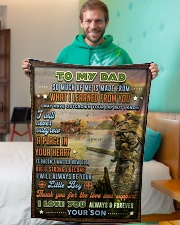 """BL10098 - To My Dad Hunting Love Son Small Fleece Blanket - 30"""" x 40"""" aos-coral-fleece-blanket-30x40-lifestyle-front-09"""