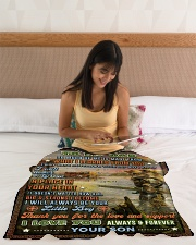 """BL10098 - To My Dad Hunting Love Son Small Fleece Blanket - 30"""" x 40"""" aos-coral-fleece-blanket-30x40-lifestyle-front-12"""