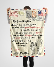 """FBL10065 To My Granddaughter Letter Family Small Fleece Blanket - 30"""" x 40"""" aos-coral-fleece-blanket-30x40-lifestyle-front-14"""