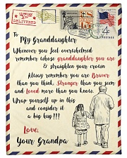 """FBL10065 To My Granddaughter Letter Family Small Fleece Blanket - 30"""" x 40"""" front"""