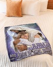 "JES10039BL - Jesus Christ  Small Fleece Blanket - 30"" x 40"" aos-coral-fleece-blanket-30x40-lifestyle-front-01"