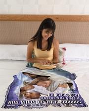 "JES10039BL - Jesus Christ  Small Fleece Blanket - 30"" x 40"" aos-coral-fleece-blanket-30x40-lifestyle-front-12"