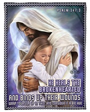 "JES10039BL - Jesus Christ  Small Fleece Blanket - 30"" x 40"" front"