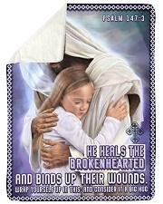 JES10039BL - Jesus Christ  Sherpa Fleece Blanket tile