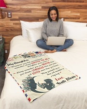 """FBL10021 To My Daughter Love Mom Letter Family Small Fleece Blanket - 30"""" x 40"""" aos-coral-fleece-blanket-30x40-lifestyle-front-08"""