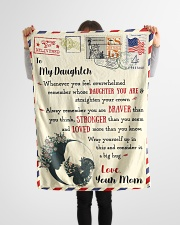 """FBL10021 To My Daughter Love Mom Letter Family Small Fleece Blanket - 30"""" x 40"""" aos-coral-fleece-blanket-30x40-lifestyle-front-14"""