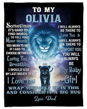 """FBC10007N - To My Olivia Lion Dad Letter Small Fleece Blanket - 30"""" x 40"""" front"""
