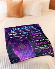 """BL10105 - To My Daughter Night Galaxy Love Mom Small Fleece Blanket - 30"""" x 40"""" aos-coral-fleece-blanket-30x40-lifestyle-front-01"""