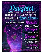"""BL10105 - To My Daughter Night Galaxy Love Mom Small Fleece Blanket - 30"""" x 40"""" front"""