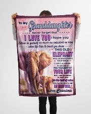 "BL10077 - To Granddaughter Love Grandma Elephant Small Fleece Blanket - 30"" x 40"" aos-coral-fleece-blanket-30x40-lifestyle-front-14"