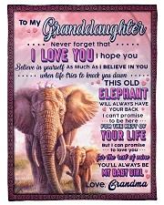 "BL10077 - To Granddaughter Love Grandma Elephant Small Fleece Blanket - 30"" x 40"" front"