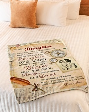 """BL10010P - To Daughter Mom Letter-Personalized Small Fleece Blanket - 30"""" x 40"""" aos-coral-fleece-blanket-30x40-lifestyle-front-01"""