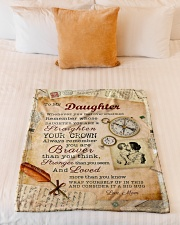 """BL10010P - To Daughter Mom Letter-Personalized Small Fleece Blanket - 30"""" x 40"""" aos-coral-fleece-blanket-30x40-lifestyle-front-04"""