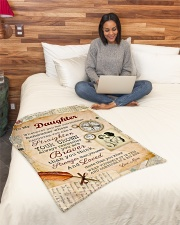 """BL10010P - To Daughter Mom Letter-Personalized Small Fleece Blanket - 30"""" x 40"""" aos-coral-fleece-blanket-30x40-lifestyle-front-08"""