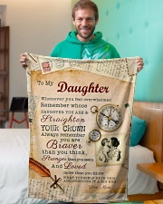 """BL10010P - To Daughter Mom Letter-Personalized Small Fleece Blanket - 30"""" x 40"""" aos-coral-fleece-blanket-30x40-lifestyle-front-09"""