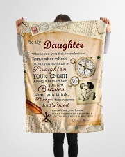 """BL10010P - To Daughter Mom Letter-Personalized Small Fleece Blanket - 30"""" x 40"""" aos-coral-fleece-blanket-30x40-lifestyle-front-14"""