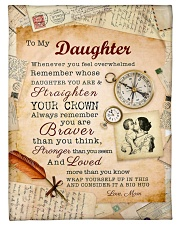 """BL10010P - To Daughter Mom Letter-Personalized Small Fleece Blanket - 30"""" x 40"""" front"""