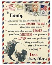 "FBL10021E To Emily Love Mom Letter Family Small Fleece Blanket - 30"" x 40"" front"