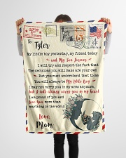 """FBL10073E To Tyler Mom Letter Family Small Fleece Blanket - 30"""" x 40"""" aos-coral-fleece-blanket-30x40-lifestyle-front-14"""