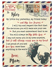 """FBL10073E To Tyler Mom Letter Family Small Fleece Blanket - 30"""" x 40"""" front"""