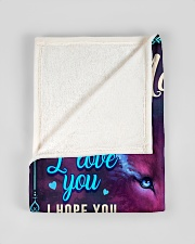 """BL10056N - To My Madison Dad Letter Small Fleece Blanket - 30"""" x 40"""" aos-coral-fleece-blanket-30x40-lifestyle-front-17"""