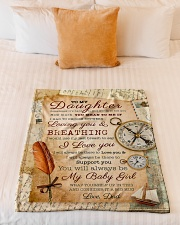 """BL10045 - To My Daughter Old Postcard Dad Letter Small Fleece Blanket - 30"""" x 40"""" aos-coral-fleece-blanket-30x40-lifestyle-front-04"""