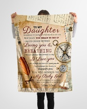 """BL10045 - To My Daughter Old Postcard Dad Letter Small Fleece Blanket - 30"""" x 40"""" aos-coral-fleece-blanket-30x40-lifestyle-front-14"""