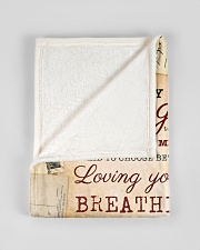 """BL10045 - To My Daughter Old Postcard Dad Letter Small Fleece Blanket - 30"""" x 40"""" aos-coral-fleece-blanket-30x40-lifestyle-front-17"""