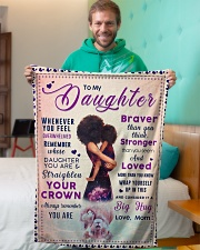 """BL10041 - To My Daughter Braver Stronger Loved Small Fleece Blanket - 30"""" x 40"""" aos-coral-fleece-blanket-30x40-lifestyle-front-09"""