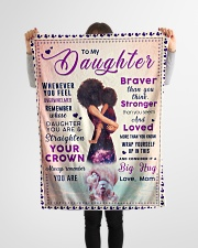 """BL10041 - To My Daughter Braver Stronger Loved Small Fleece Blanket - 30"""" x 40"""" aos-coral-fleece-blanket-30x40-lifestyle-front-14"""