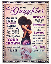 """BL10041 - To My Daughter Braver Stronger Loved Small Fleece Blanket - 30"""" x 40"""" front"""