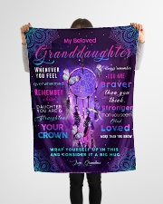 """BL10031 - Beloved Granddaughter Butterfly Night Small Fleece Blanket - 30"""" x 40"""" aos-coral-fleece-blanket-30x40-lifestyle-front-14"""