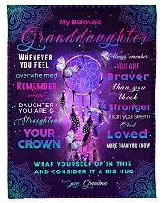 "BL10031 - Beloved Granddaughter Butterfly Night Small Fleece Blanket - 30"" x 40"" front"