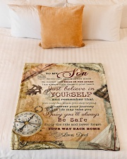 """BL10044 - To My Son Vintage Dad Letter Small Fleece Blanket - 30"""" x 40"""" aos-coral-fleece-blanket-30x40-lifestyle-front-04"""