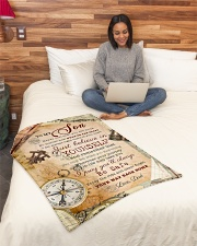 """BL10044 - To My Son Vintage Dad Letter Small Fleece Blanket - 30"""" x 40"""" aos-coral-fleece-blanket-30x40-lifestyle-front-08"""