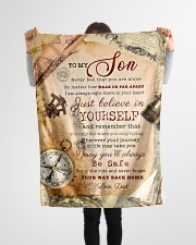 """BL10044 - To My Son Vintage Dad Letter Small Fleece Blanket - 30"""" x 40"""" aos-coral-fleece-blanket-30x40-lifestyle-front-14"""