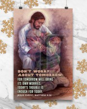 JES10026PT - Jesus Christ Don't Worry Tomorrow 11x17 Poster aos-poster-portrait-11x17-lifestyle-25