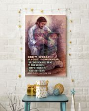 JES10026PT - Jesus Christ Don't Worry Tomorrow 11x17 Poster lifestyle-holiday-poster-3