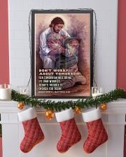 JES10026PT - Jesus Christ Don't Worry Tomorrow 11x17 Poster lifestyle-holiday-poster-4