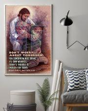 JES10026PT - Jesus Christ Don't Worry Tomorrow 11x17 Poster lifestyle-poster-1