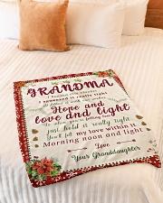 "BL10007 - To Grandma Hope Love Light Christmas Small Fleece Blanket - 30"" x 40"" aos-coral-fleece-blanket-30x40-lifestyle-front-01"
