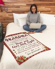 "BL10007 - To Grandma Hope Love Light Christmas Small Fleece Blanket - 30"" x 40"" aos-coral-fleece-blanket-30x40-lifestyle-front-08"