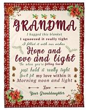"BL10007 - To Grandma Hope Love Light Christmas Small Fleece Blanket - 30"" x 40"" front"