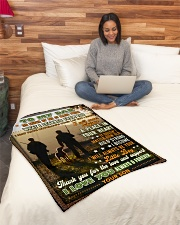 """BL10096 - To My Dad Hunting Love Son Small Fleece Blanket - 30"""" x 40"""" aos-coral-fleece-blanket-30x40-lifestyle-front-08"""