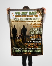 """BL10096 - To My Dad Hunting Love Son Small Fleece Blanket - 30"""" x 40"""" aos-coral-fleece-blanket-30x40-lifestyle-front-14"""