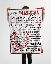 "FBC10046 - Amazing Son Believe In Your Heart Small Fleece Blanket - 30"" x 40"" aos-coral-fleece-blanket-30x40-lifestyle-front-14"