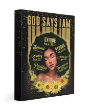 CV10020 - God Says I Am Gallery Wrapped Canvas Prints tile