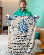 """FAM10120BL - Feel My Heart Breaking Small Fleece Blanket - 30"""" x 40"""" aos-coral-fleece-blanket-30x40-lifestyle-front-09"""