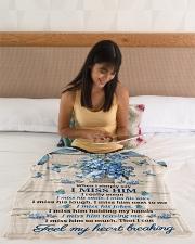 """FAM10120BL - Feel My Heart Breaking Small Fleece Blanket - 30"""" x 40"""" aos-coral-fleece-blanket-30x40-lifestyle-front-12"""